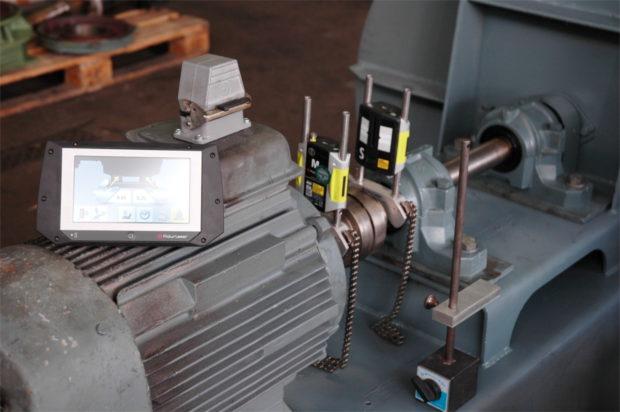 Kabelloses System zum Laserausrichten im Einsatz