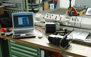 Testlauf eines Servomotors
