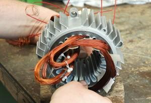 Neuwicklung von Elektromotoren